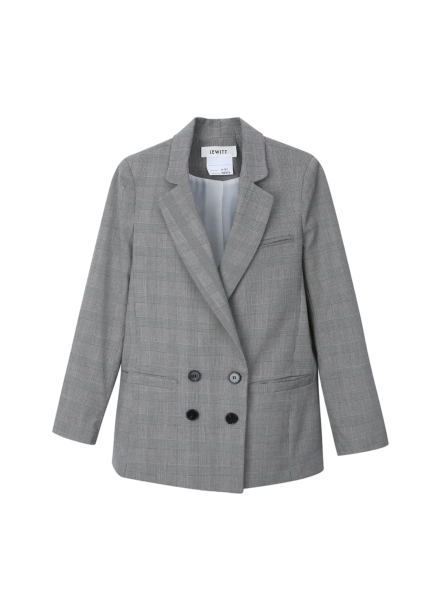 ★ Check Double Button Jacket [주문폭주]