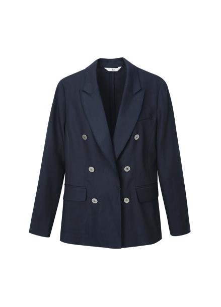 ◆ Linen Blend Double Button Jacket