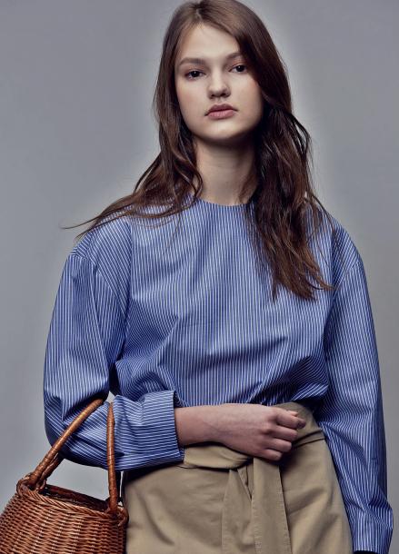 [4차리오더/5월2일 순차배송]2way shirts_blue stripe
