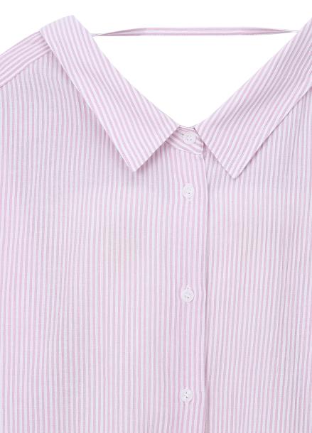 ◆Two-Way Stripe Blouse
