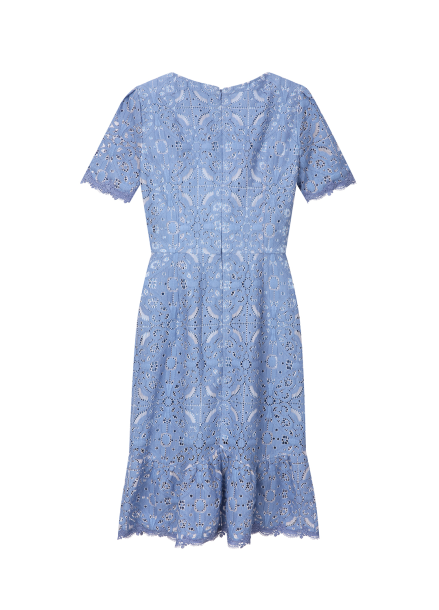 ◆ Lace Peplum Dress