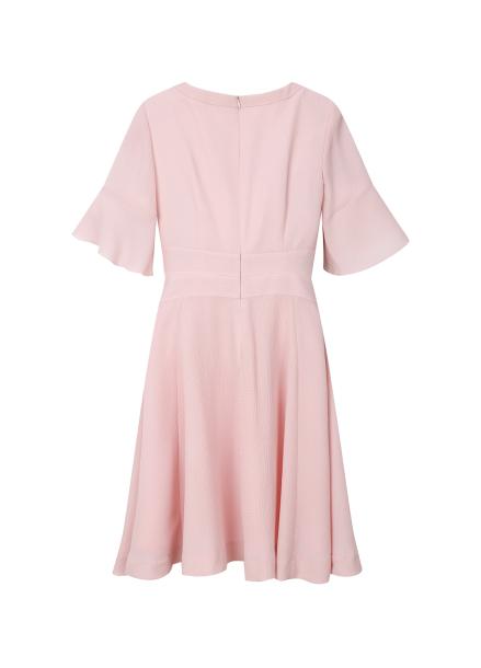 ◆ Pleats Flare Dress
