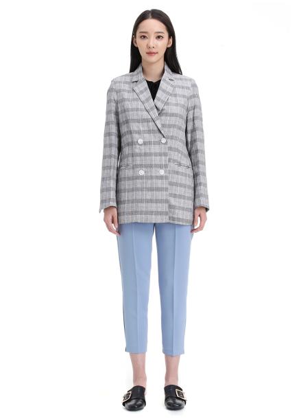 [균일가] Linen Check Jacket