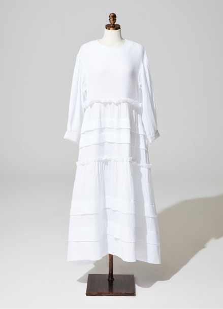 [AMELIE]Amelie frill kangkang onepiece_white