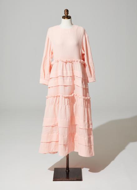 [제시카,티아라 은정 착용]Amelie frill kangkang onepiece_pink