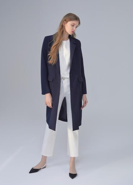 Stripe Single Long Jacket