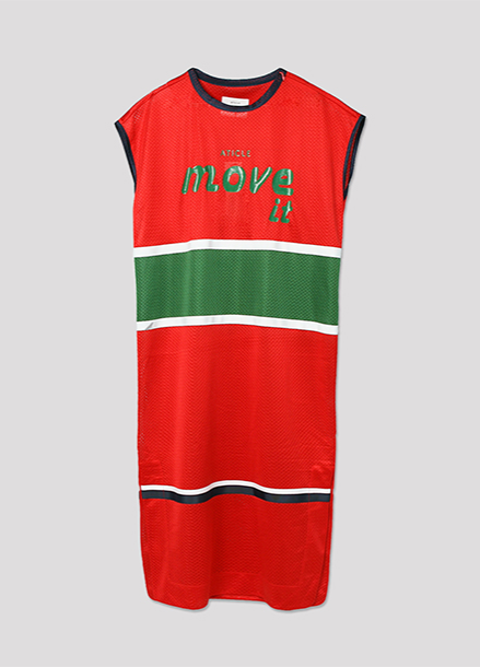 [ATICLE/50%SALE]Basketball Mesh Dress_RD
