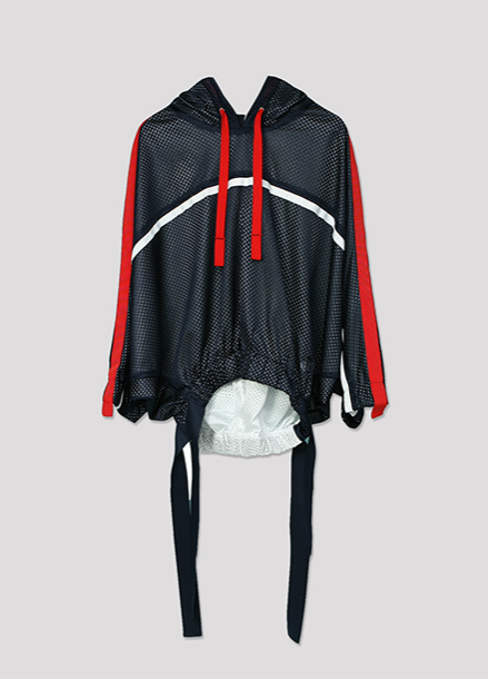 [ATICLE/50%SALE] Hoody Mesh Track Blouse_NY