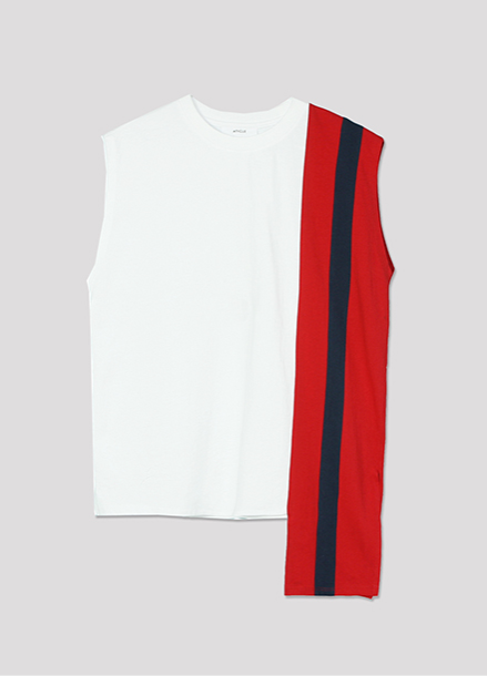 [ATICLE/50%SALE]Color Block Sleeveless Top_WT