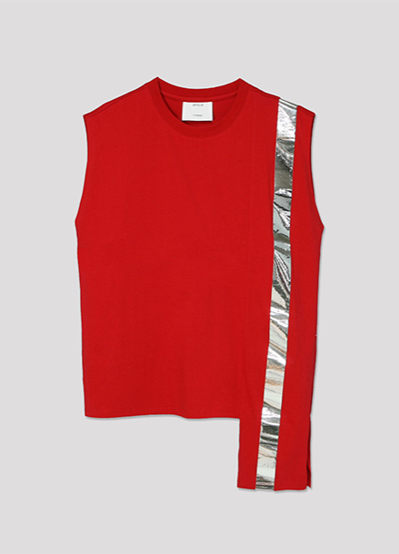 [ATICLE/50%SALE] Color Block Sleeveless Top_RD