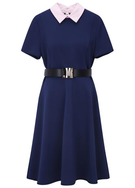 Colorblock Feminine Dress