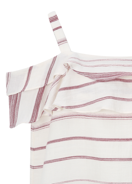 ★ Stripe Off-Sholder Dress