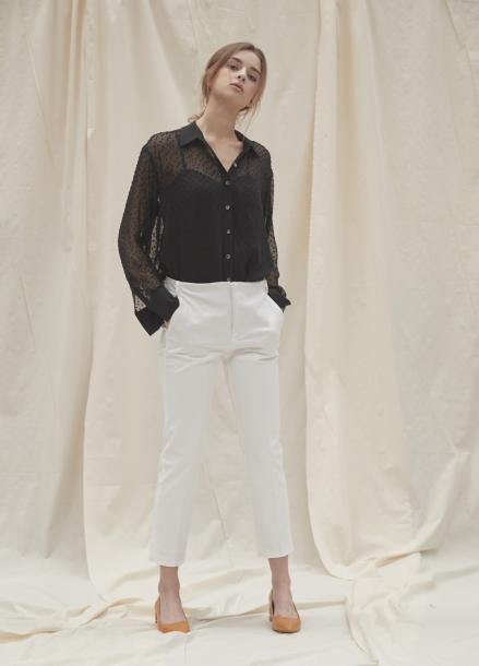 [YouNess/신상10%] Larra Seethrough Shirt