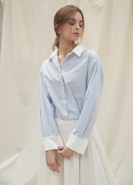 [YouNess/신상10%] Volume Stripe Shirt