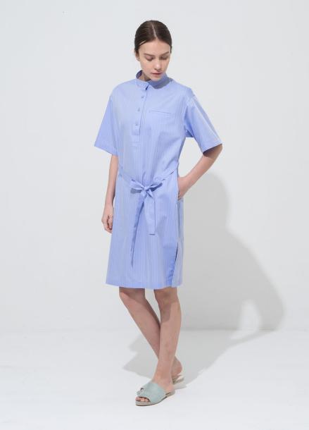[NOCOCHIC] CHINA STRIGHT DRESS BL