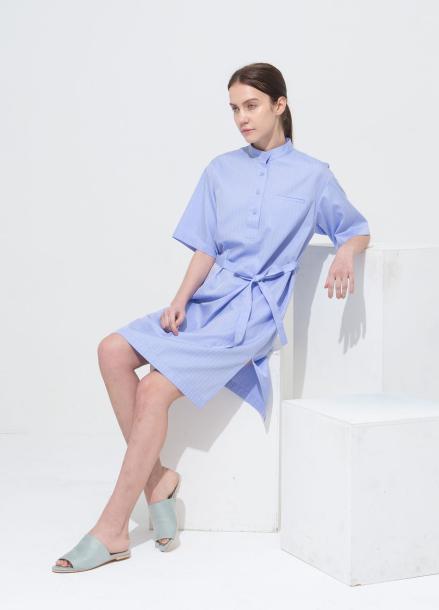 [NOCOCHIC/20%] CHINA STRIGHT DRESS BL