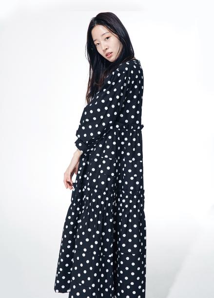 [2차 6월1일 예판/ '추리의여왕' 최강희 착용]Amelie kang kang dote dress black