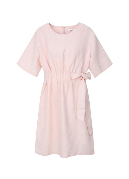★ Linen Drawstring Dress