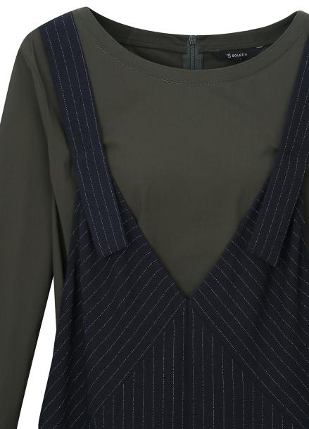 ● Stripe Bustier Long Dress