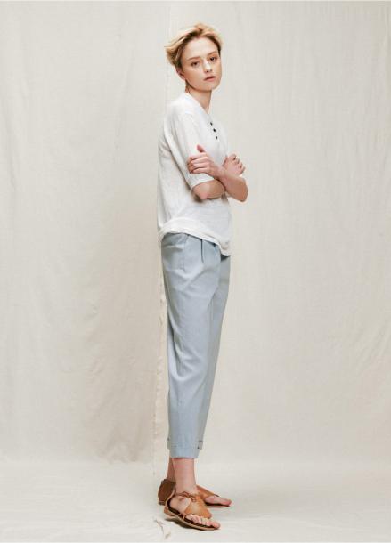 [URAGO]straight silm slacks