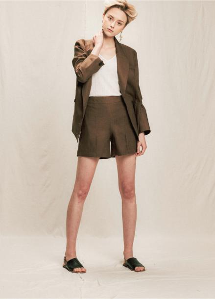 [05/31까지 5%할인+5%쿠폰]linen slit wide jacket