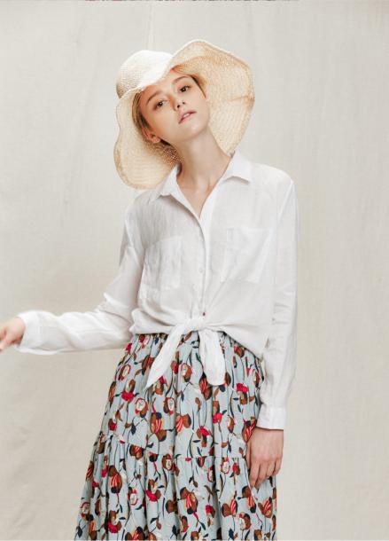 [05/31까지 5%할인+5%쿠폰]pattern frill long skirt