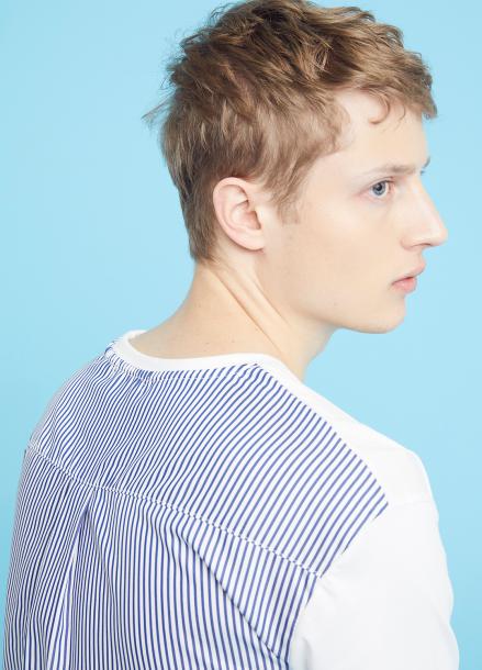 [MILLOGLEM/35%SALE]back stripes t-shirts - white