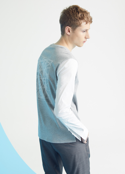 [MILLOGLEM/35%SALE]shirts sleeves t-shirts - gray