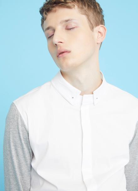 [MILLOGLEM/35%SALE]detachable collar shirts - white