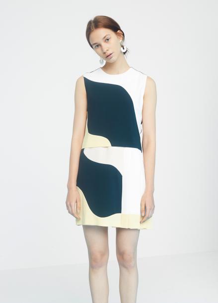 [MILLOGLEM/35%SALE]curve lining dress - dark green
