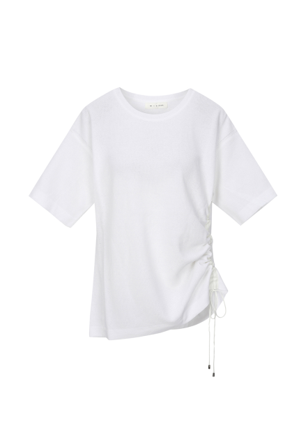 String Half Sleeve Knit Pullover