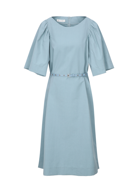 Wide Sleeve Long Dress