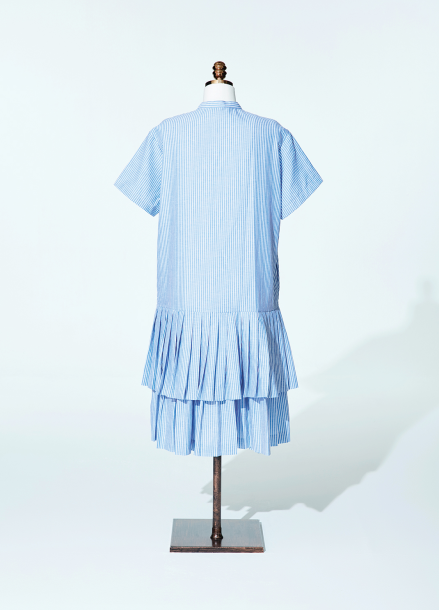 [AMELIE/티아라 은정 착용]Amelie half pleat prepy dress blue