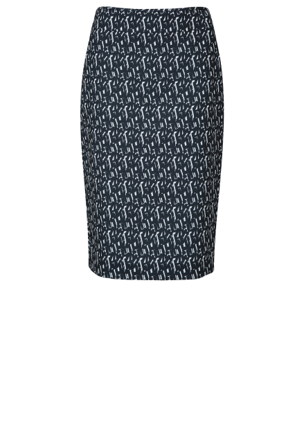 H- Line Patterned Midi Skirt