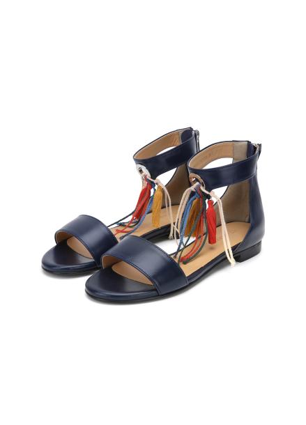 Tassel Leather Sandal
