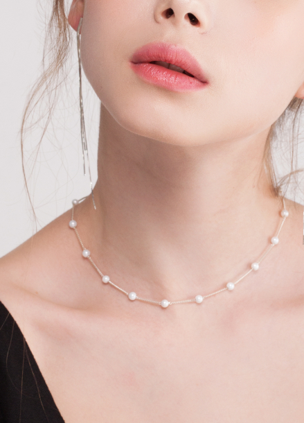 [TATIANA/SILVER 925/15%SALE] A ROUND THE PEARL NECKLACE