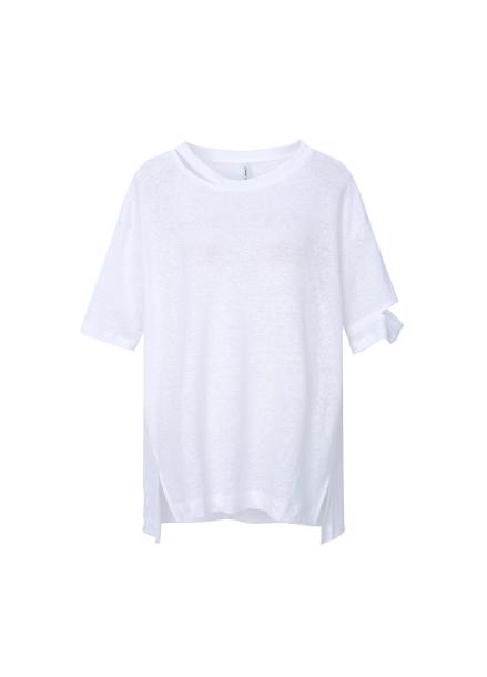 Linen Cutting Detail T-Shirts
