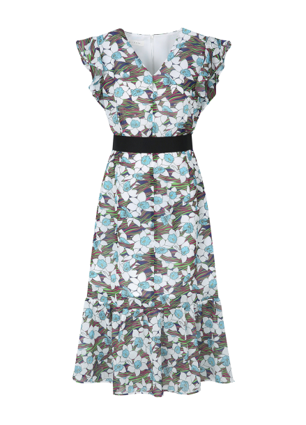 Wave Flower Dress