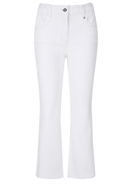 White Cutting Denim Pants