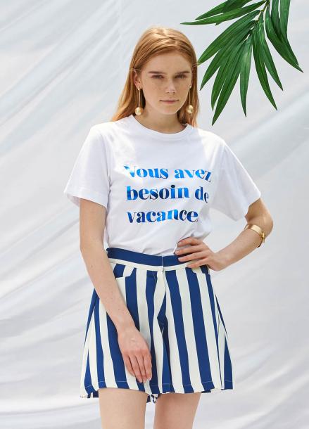 [SALON DE YOHN/20%SALE]Stripe Short Pants