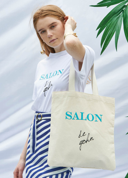 [SALON DE YOHN/20%SALE]Velvet Logo Eco Bag