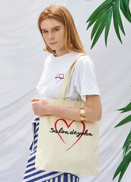 [SALON DE YOHN/20%SALE]Heart Logo Eco Bag