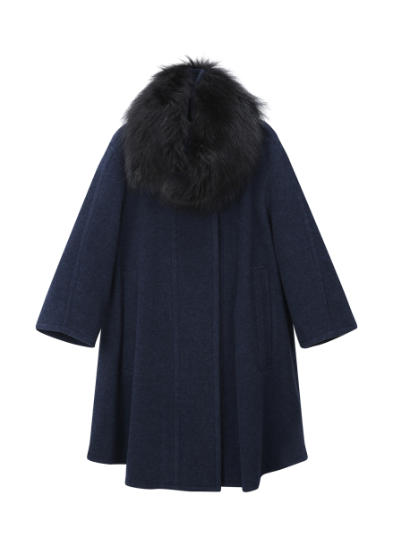 Fur Collar Half Coat