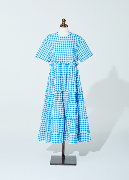 [AMELIE] Amelie gingham check dress blue