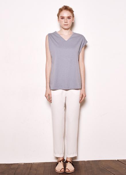 [The Kstory/단독10%SALE]Unbalanced sleeves T_blue