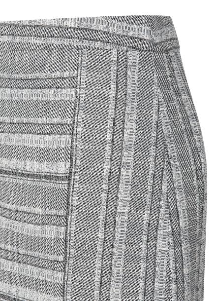 Hemline Flare Midi Skirt
