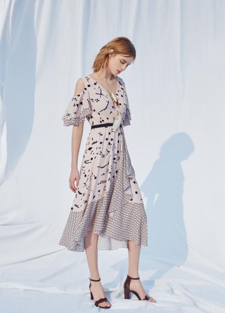 Wrap Style Sun Dress [전효성 착용]