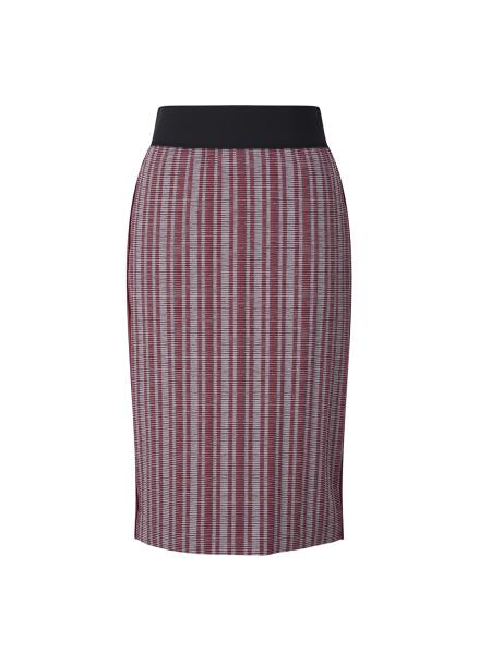 Waist Bending Patterned Skirt