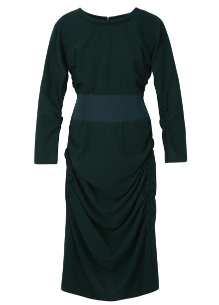 Waist Bending Shirring Dress