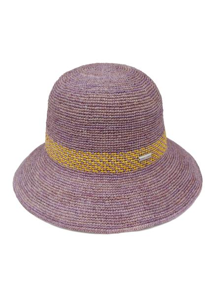 [WHITE SANDS/전상품15%+5%] RAFFIA HAWAII HAT BABY PURPLE HAT WS17-104PP